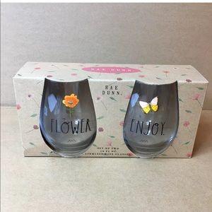 Rae Dunn stemless wine glasses - set of two